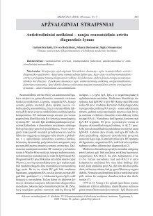 reumatoidinio artrito gydymo
